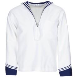 Italian middy navy shirt, new, white