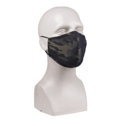 Mil-tec маска для лица широкая форма, Multitarn black