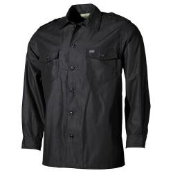 US vabaaja särk, must, pika käisega