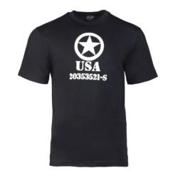 T-shirt - Usa Allied star, black