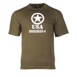 Футболка - США союзников звезда, од зеленый