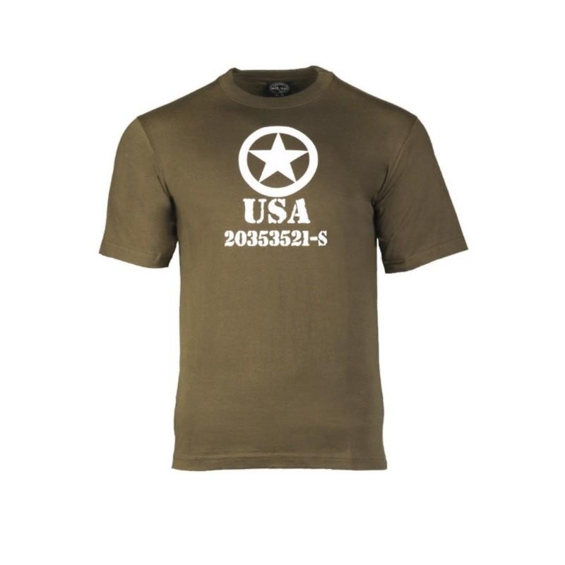 T-shirt - Usa Allied star, od green