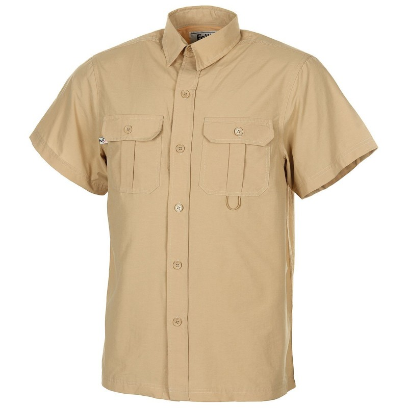 Outdoor Shirt, short sleeves, khaki