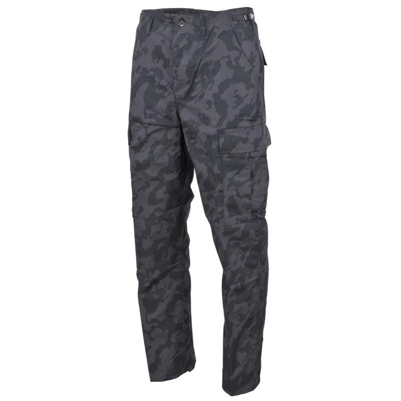 US BDU Field Pants, Rip Stop, night camo