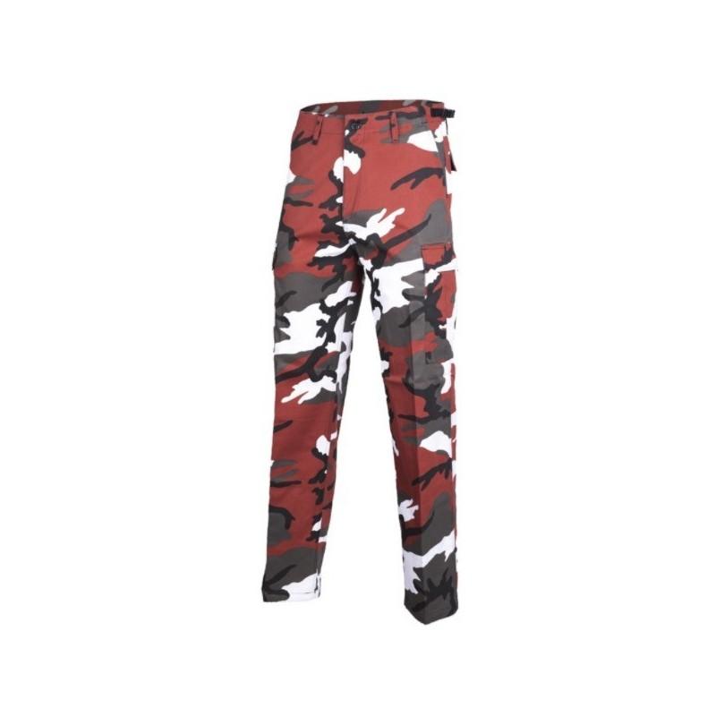 US BDU Ranger style field pants, red camo