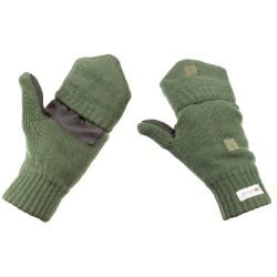 MFH Трикотажные перчатки / варежки из тинсулейта, оливково-зеленые