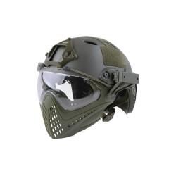 FAST PJ Replica Piloteer helmet, olive drab