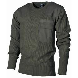 BW пуловер, OD зеленый, акрил