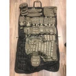 Swedish tactical vest set STRIDSVÄST 12, stone grey
