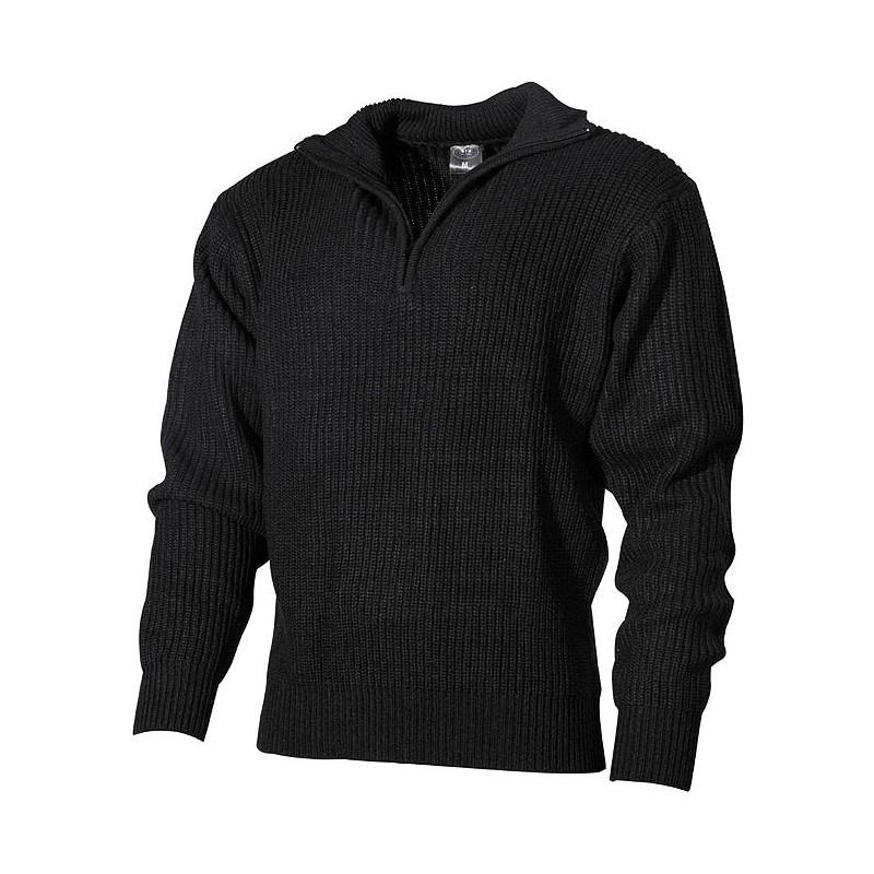 Navy Sweater, acrylic, black