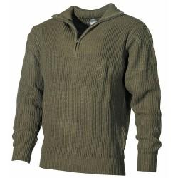 ВМС свитер, акрил, OD зеленый