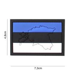 "Velcro PVC embleem, ""Eesti lipp kontuuriga"""