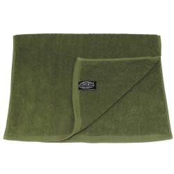 Towel, terry cloth, OD green, 30 x 50 cm