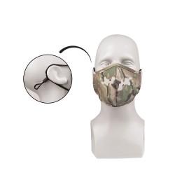 Mil-tec face mask, wide shape, Rip-Stop, Multitarn