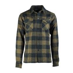 Mil-tec checkered flannel shirt, green-black