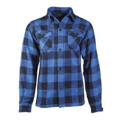 Mil-tec checkered flannel shirt, blue-black
