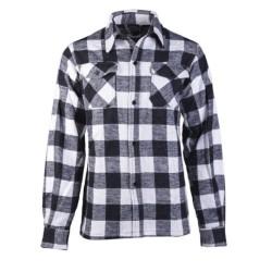 Mil-tec checkered flannel shirt, white-black