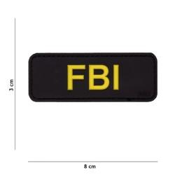 "Velcro sign, ""FBI"" 3D, black"