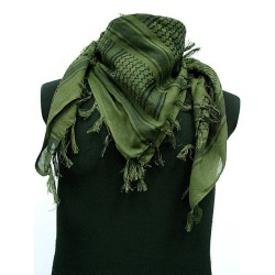 Shemagh - kaela/pearätik - must/roheline
