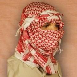Shemagh (шарф), красно-белый