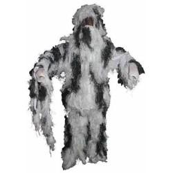 Ghillie Suit maskeerimiskostüüm, talvine camo