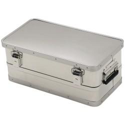 Transport Box 55L, 2 handles, aluminium
