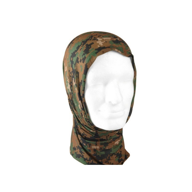 Multifunctional headwear Digi woodland