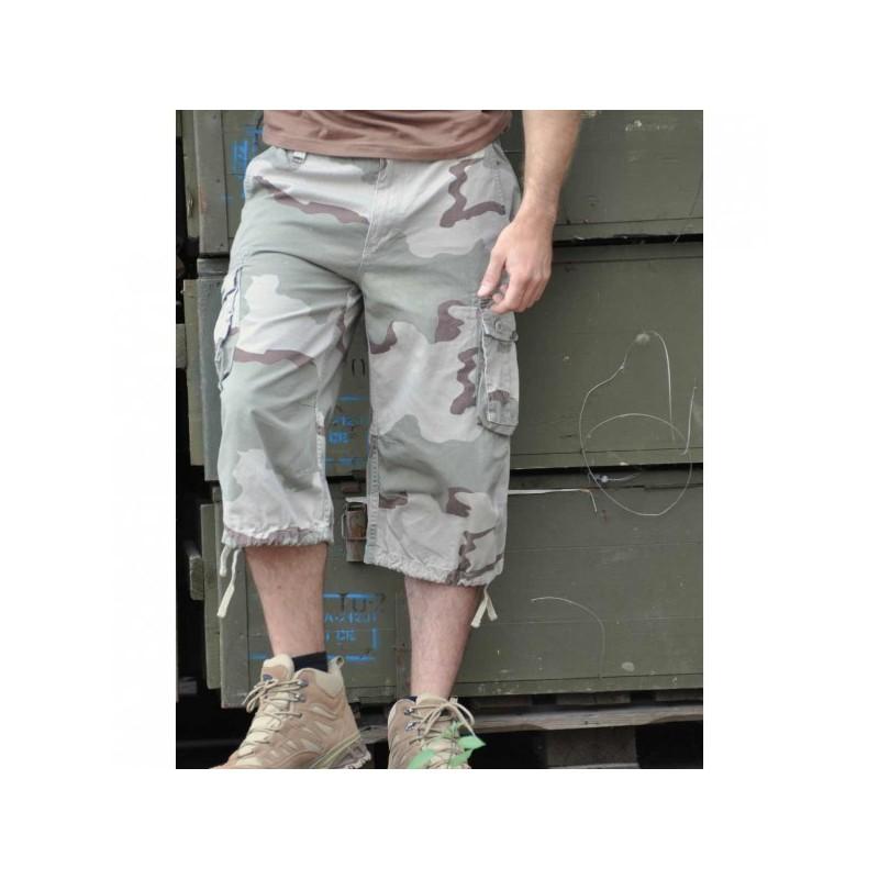 Air Combat 3/4-pants prewash, desert