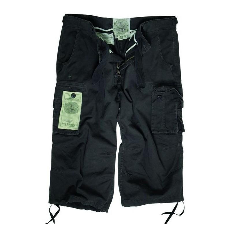 Air Combat 3/4-pants prewash, black