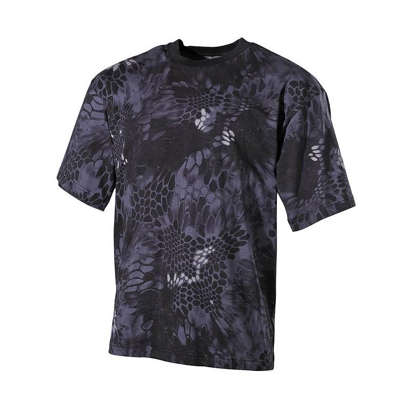 US футболка, в классическом стиле, Snake black