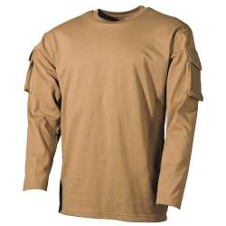 US футболка coyote, с рукавом карманы, длинный рукав