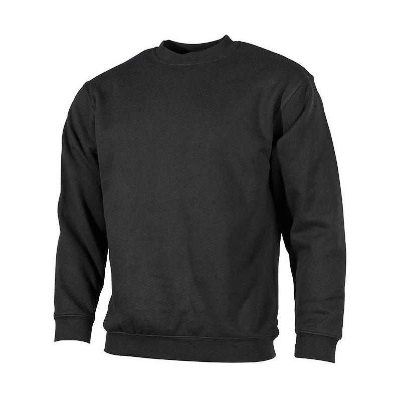 "Sweatshirt, with cuffs, ""PC"" black"