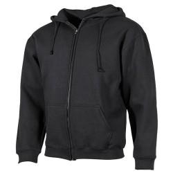 Kapuutsiga sviiter-jakk, must
