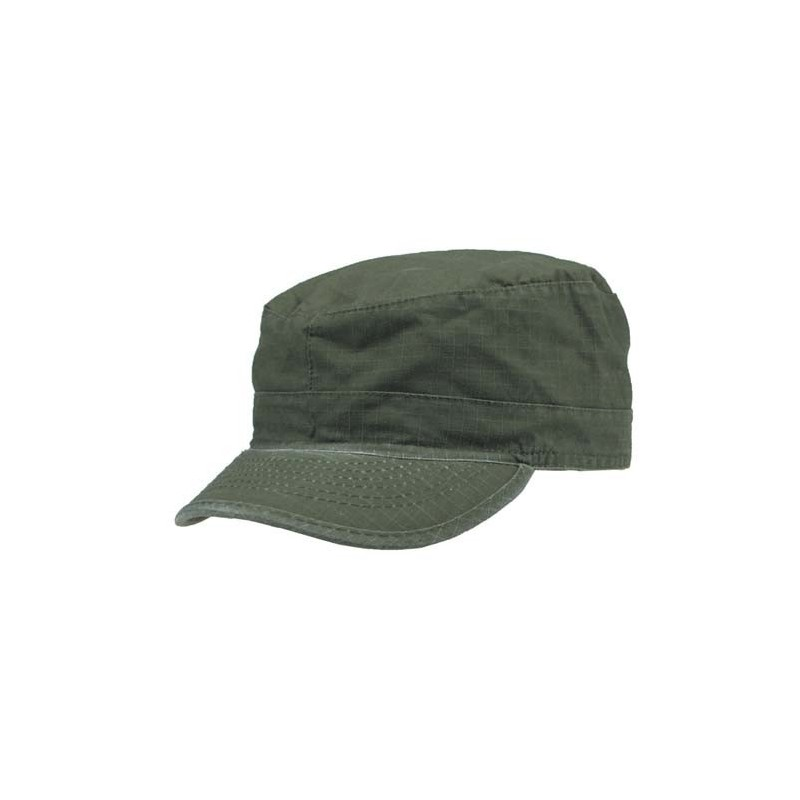 US BDU Field Cap, Rip Stop, OD green-stonewashed