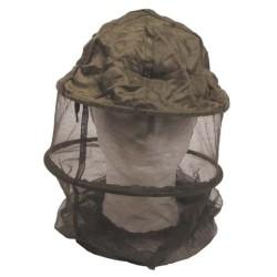 Sääse/kärbse võrguga müts, metallrõngaga, oliivroheline