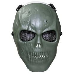 """Маска для лица """", череп"""", ОД зеленый, полная защита"""