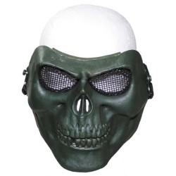 """Маска для лица """", череп"""", ОД зеленый"""