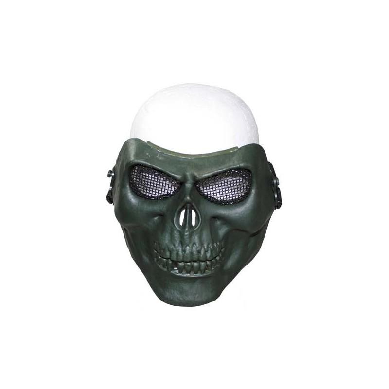 "Face Mask, ""skull"", OD green"
