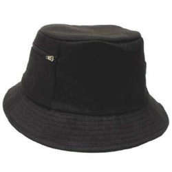 Kalamehe kaabu taskuga, must