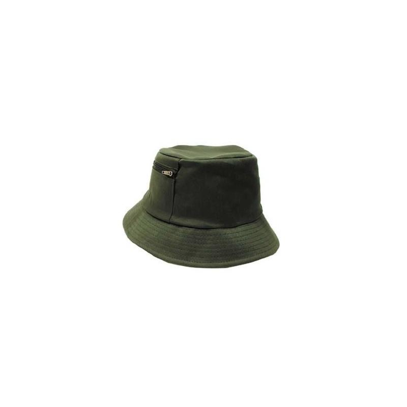 Kalamehe kaabu taskuga, oliivroheline