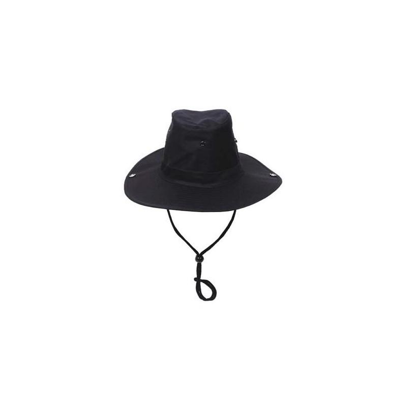 Bush Hat, chin strap, black