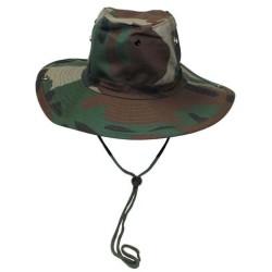 Буш Hat, подбородок ремень, woodland