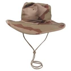 Bush Hat, chin strap, 3 col. desert