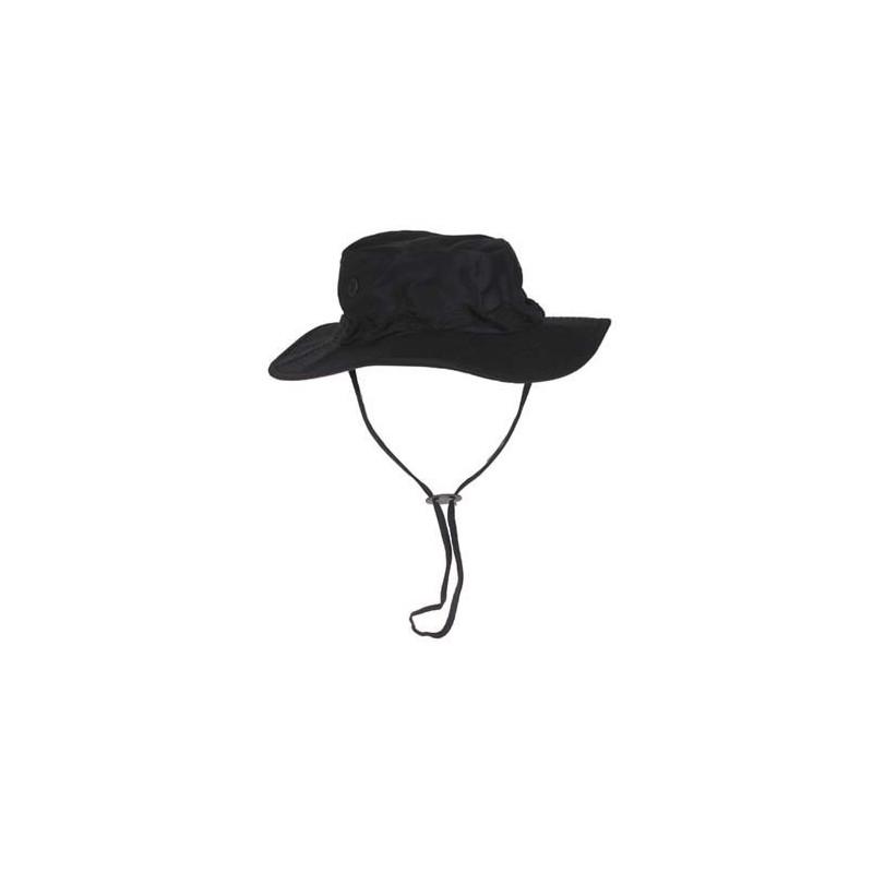 US GI Bush Hat, Rip Stop, chin strap, black