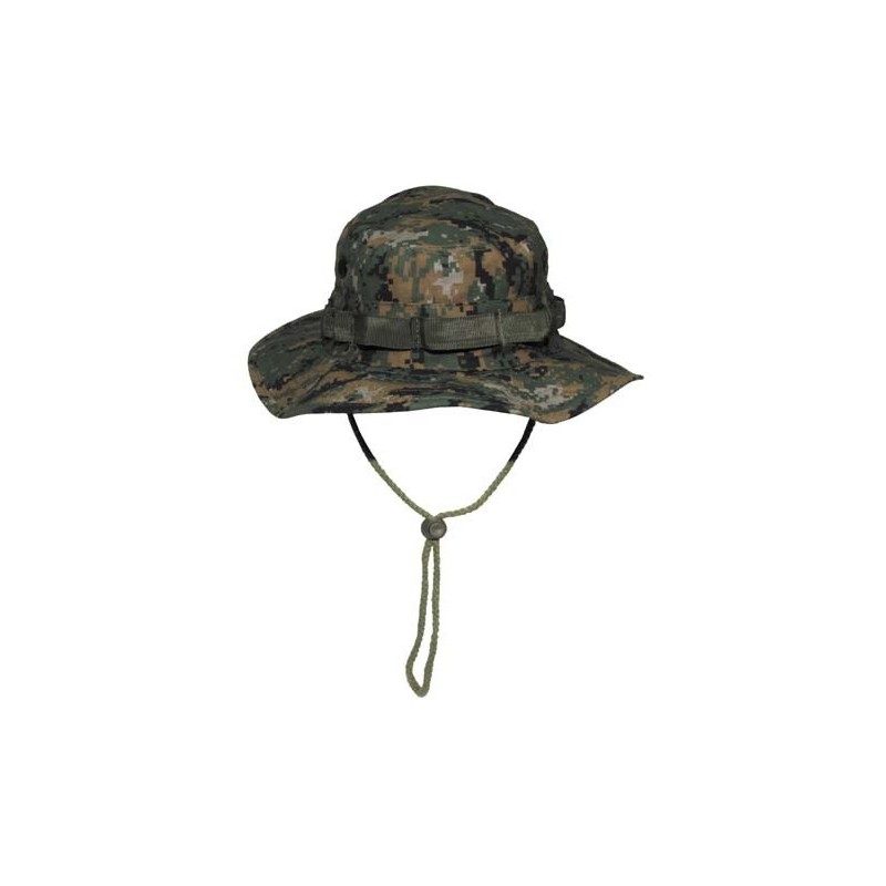 US GI Bush Hat, Rip Stop, chin strap, digital woodland