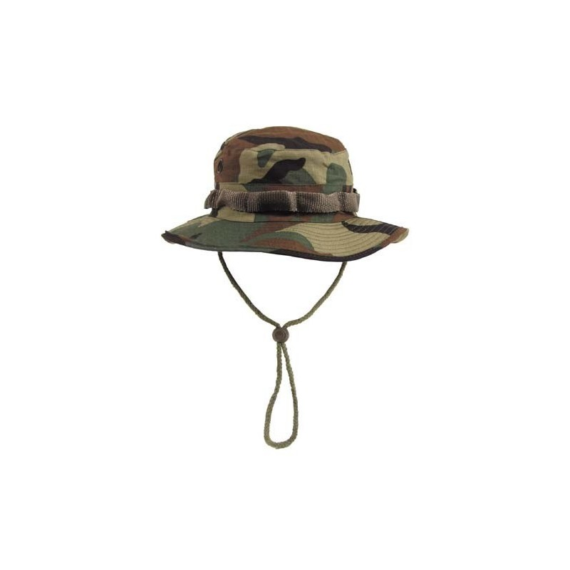 US GI Bush Hat, Rip Stop, chin strap, woodland