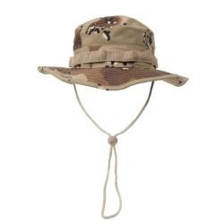 US GI Bush Hat, Rip Stop, chin strap, 6 col. desert