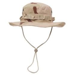 US GI Bush Hat, Rip Stop, chin strap, 3 col. desert