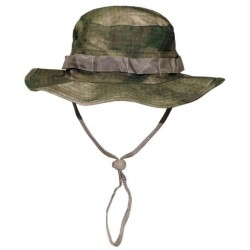 US GI Bush Hat, Rip Stop, chin strap, HDT camo green