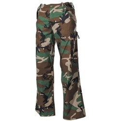 US BDU Field Pants, M65, Rip Stop, woodland-stonew.